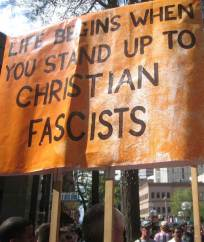 anti-christian protest